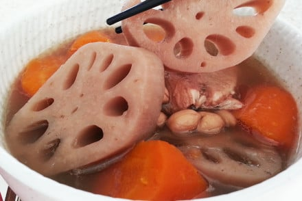 Lotus Root Seeds Lotus Root With Peanuts Soup
