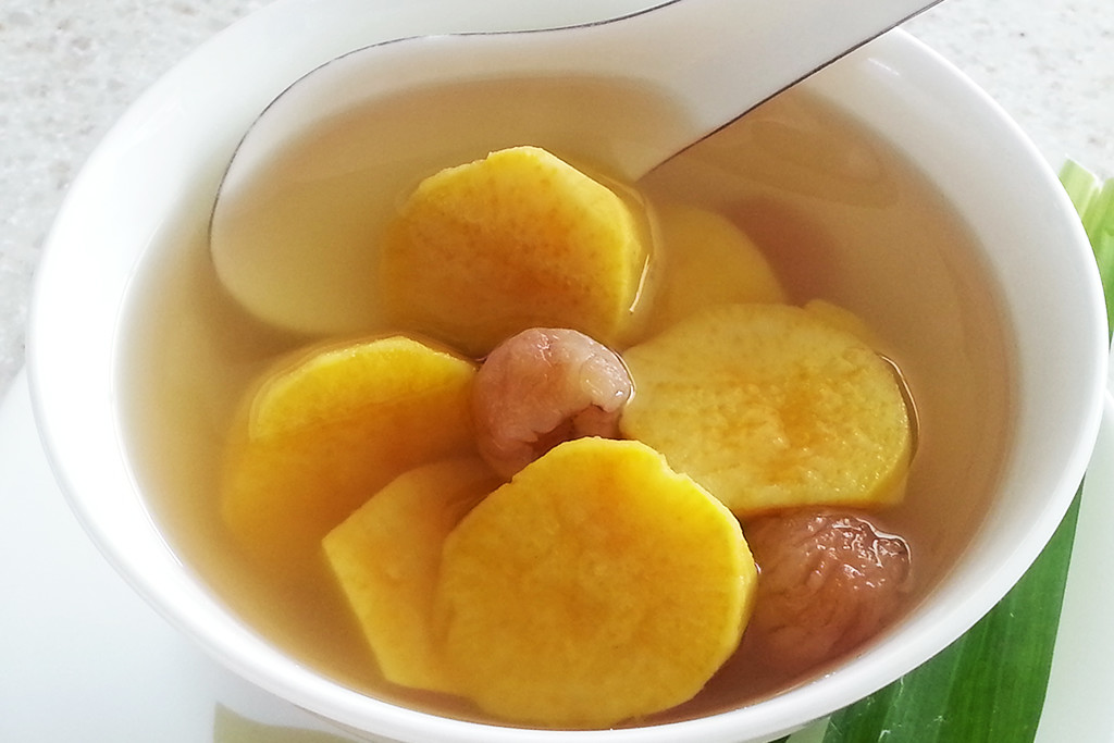 Sweet Potato With Longan In Ginger Soup Foodelicacy