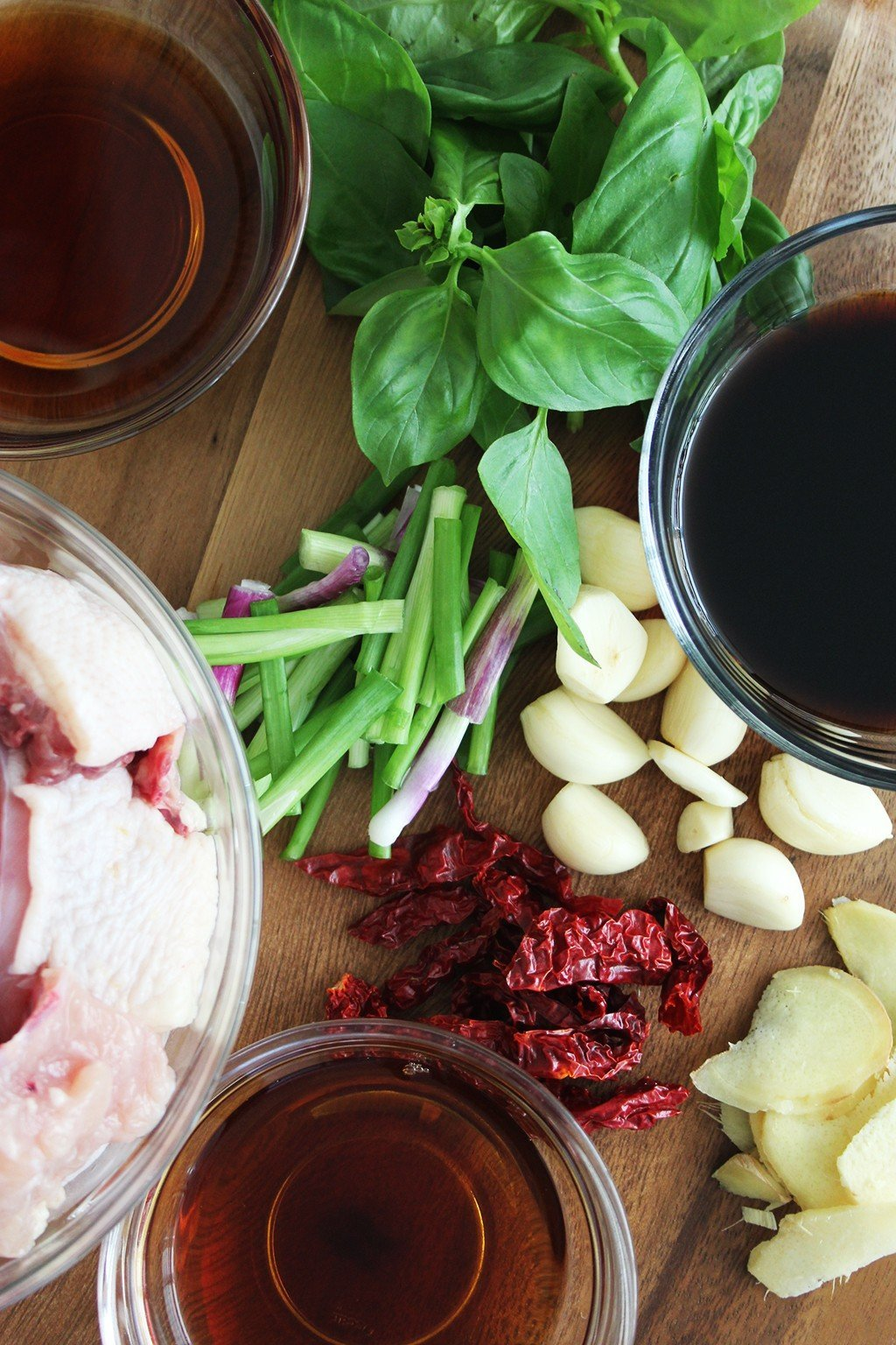 Three Cup Chicken Ingredients