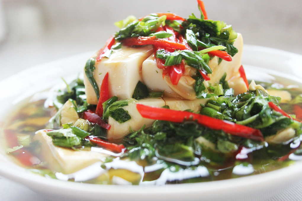 Soft Tofu with Soy Sauces and Sesame Oil | foodelicacy