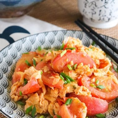 chinese egg and tomato omelette
