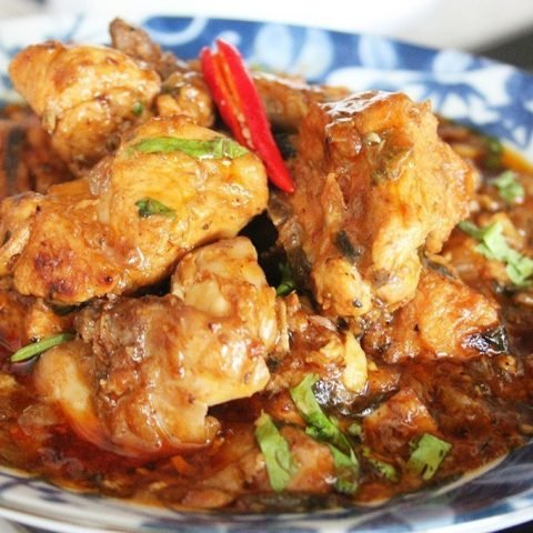 Chilli Paprika Chicken with Garlic in Olive Oil