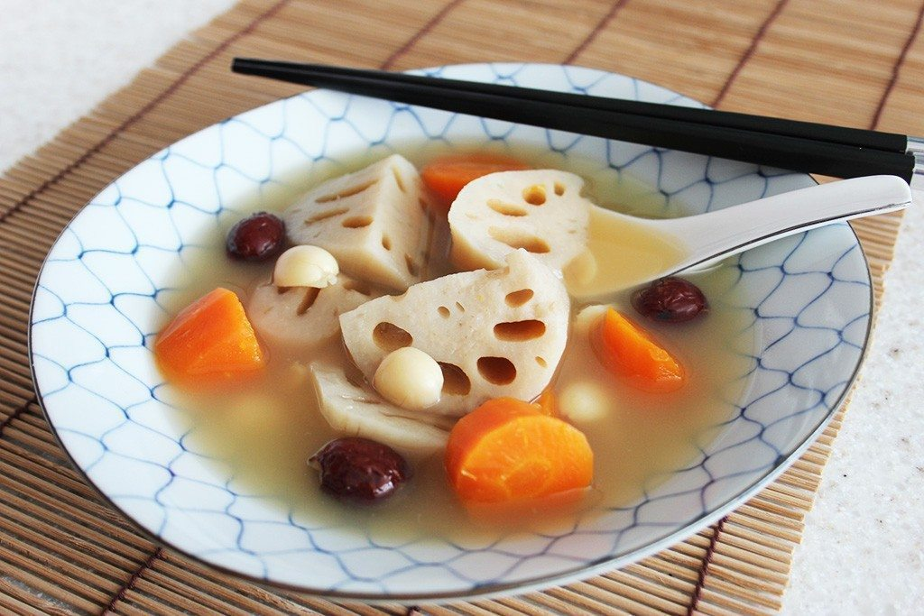 Lotus Root with Lotus Seeds and Red Dates Soup