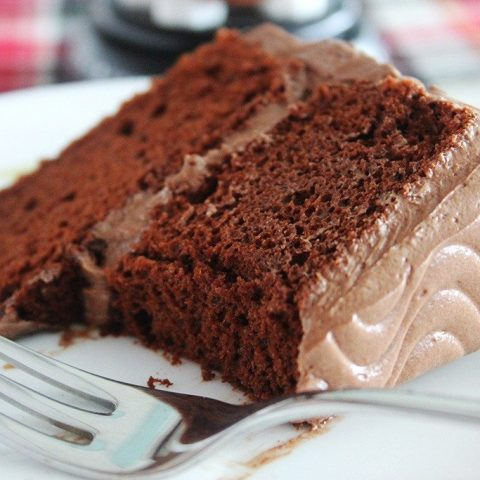 Chocolate Cake with Classic Chocolate Buttercream Frosting