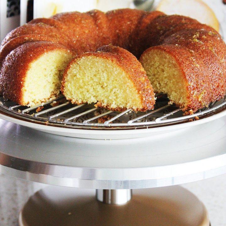 Semolina Lime Syrup Cake