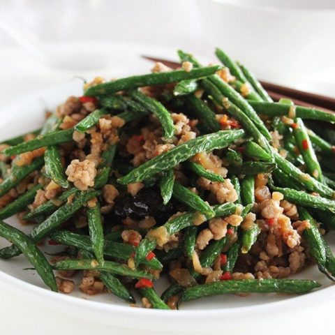 French Beans Stir-fried with Minced Pork in Soy Bean Paste