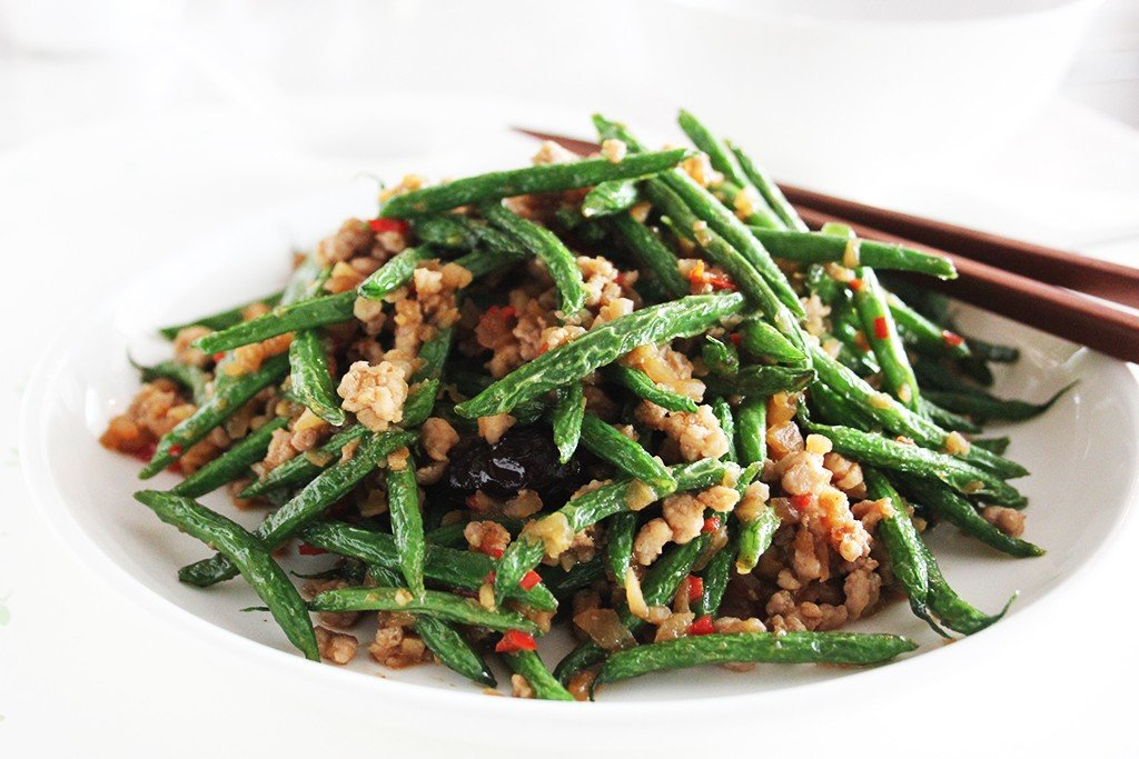 French Beans Stir-fried with Minced Pork Stir-fried in Soy Bean Paste ...