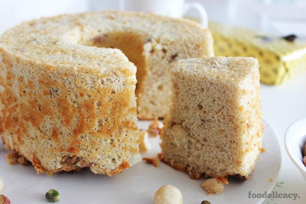 Cinnamon Hazelnut Chiffon Cake