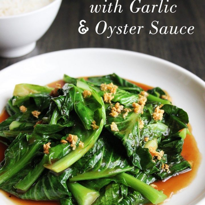 Stir-fried Kailan with Garlic and Oyster Sauce
