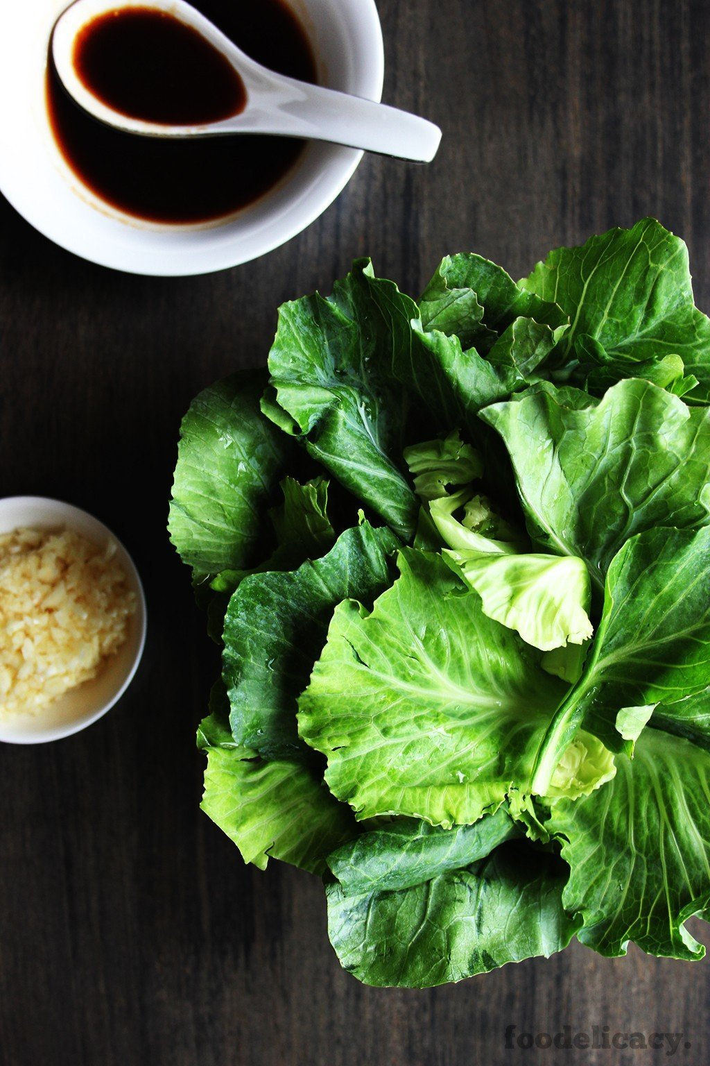 raw kailan vegetable