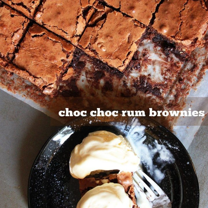 Chocolate Rum Brownies