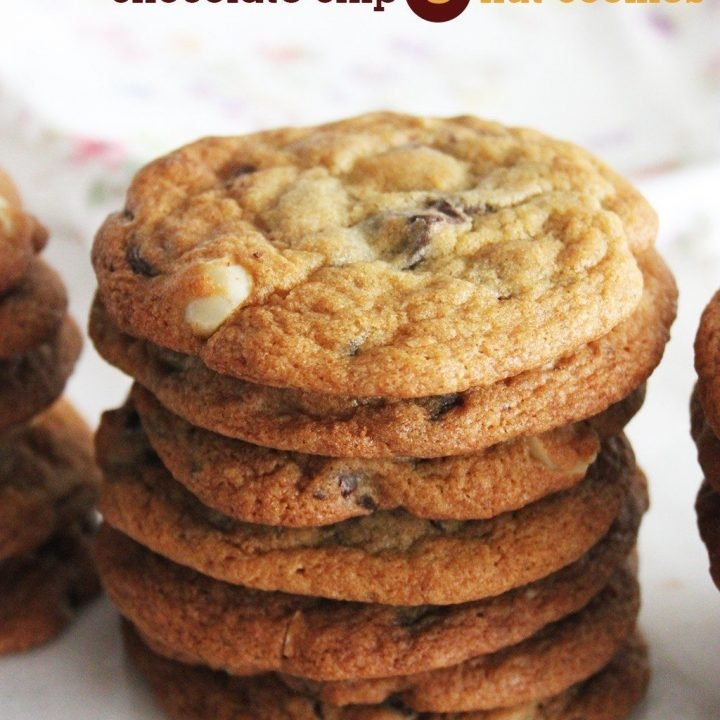 Soft & Chewy Chocolate Chip & Nut Cookies