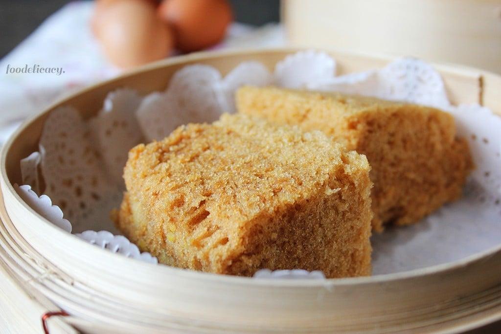 ma lai gao (chinese steamed sponge cke)