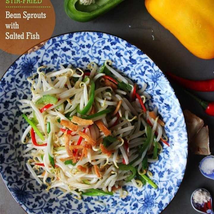Stir-Fried Bean Sprouts with Salted Fish