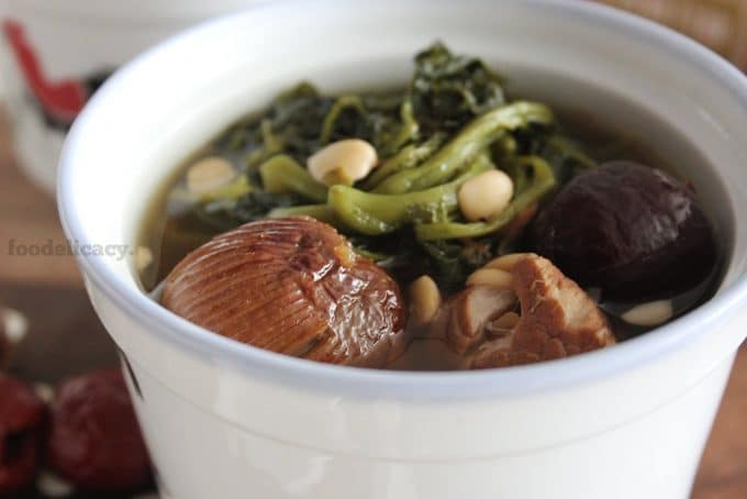 Watercress and Honey Dates with Pork Ribs Soup