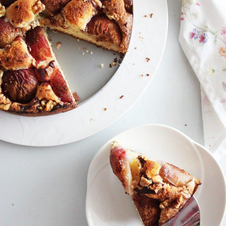 Nectarine Walnut Torte