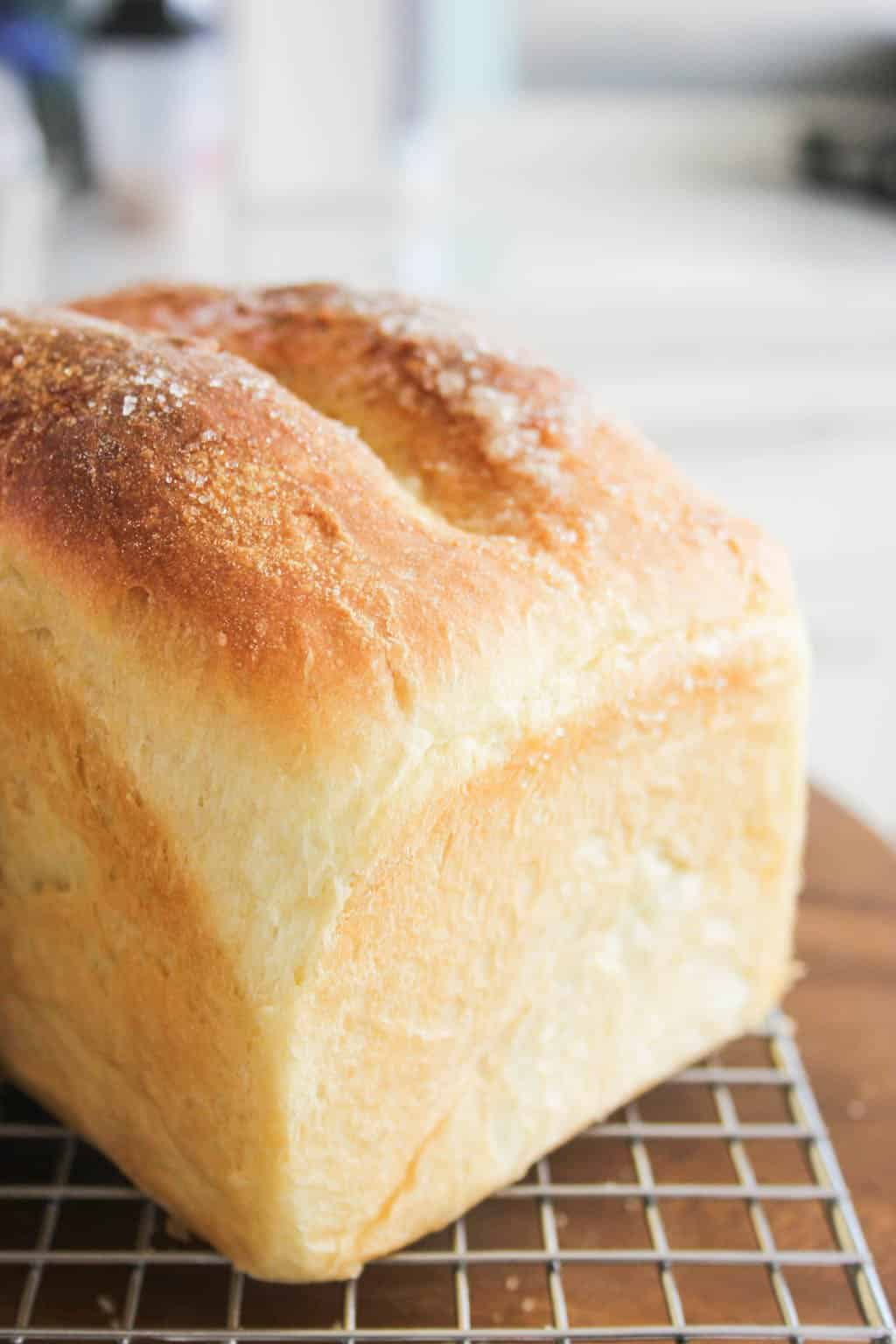 English cottage bread loaf, fresh baked out of the oven
