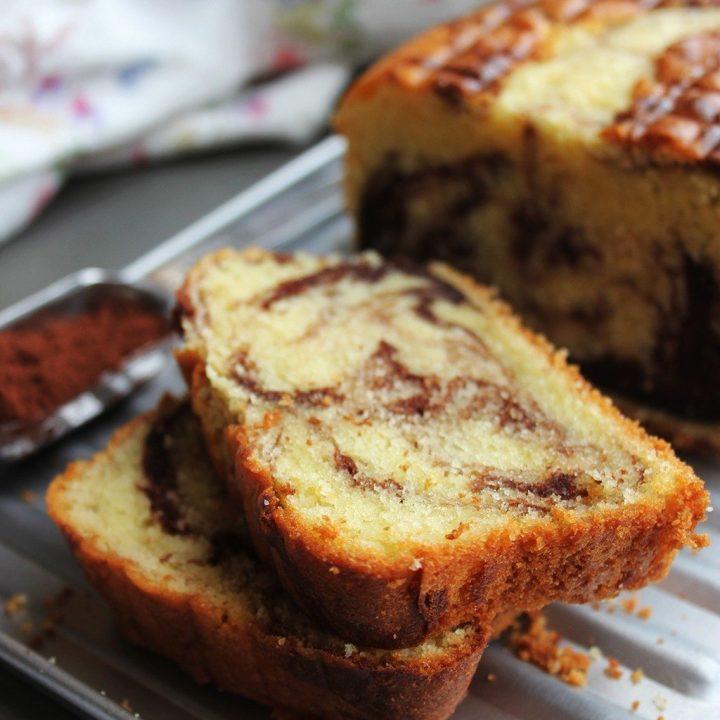 Soft & Moist Chocolate Vanilla Marble Cake