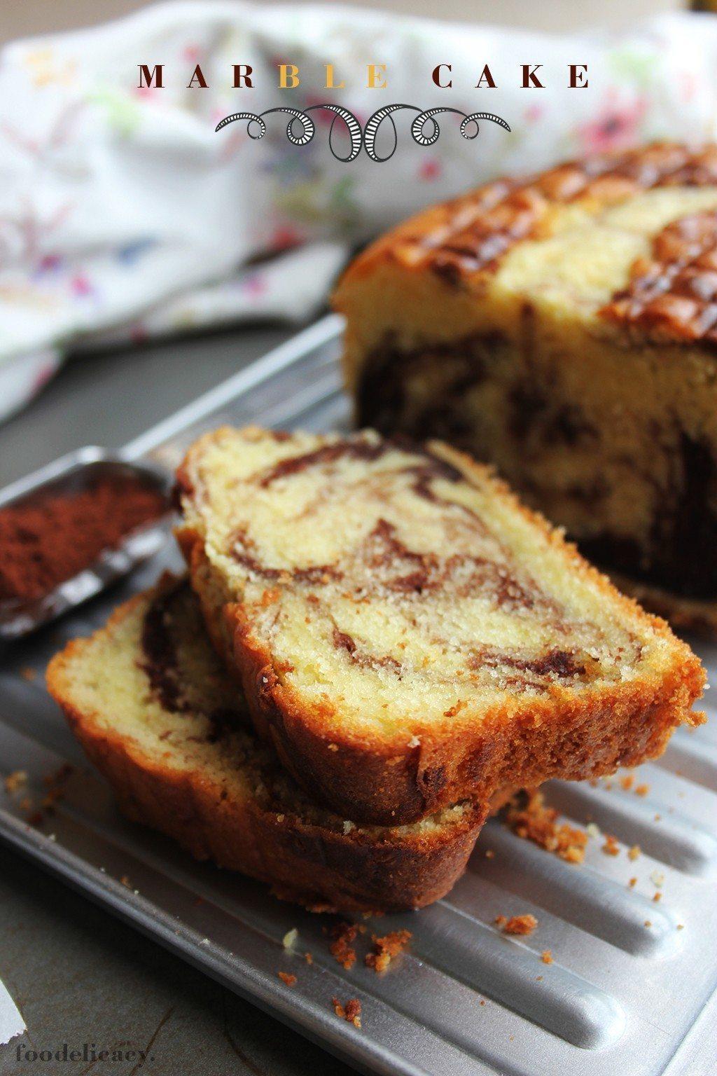 Choc Vanilla Marble Cake Recipe