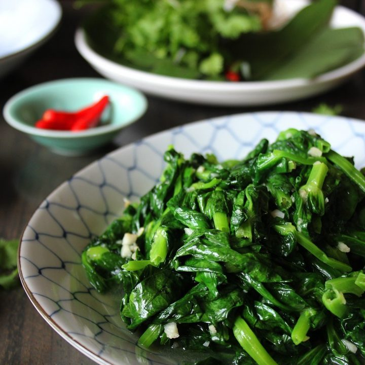 Flash-Fried Pea Shoots with Garlic
