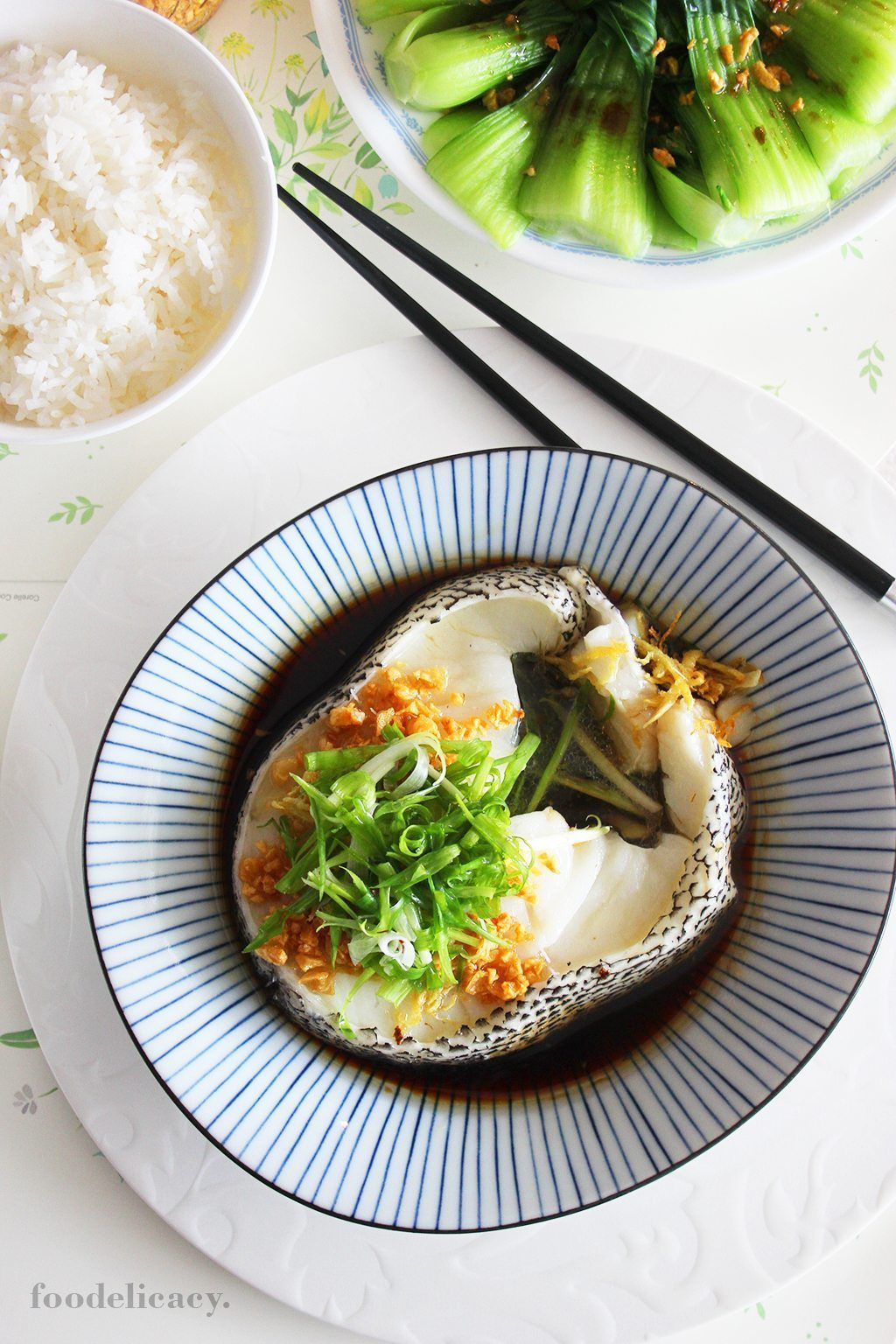 Cantonese Style Steamed Cod With Special Soy Sauce Foodelicacy