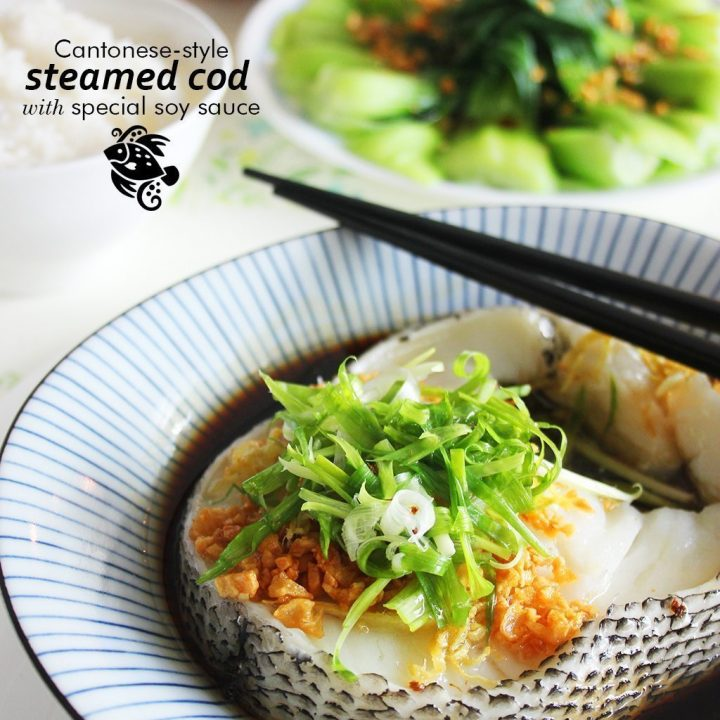 Cantonese-Style Steamed Cod with Special Soy Sauce