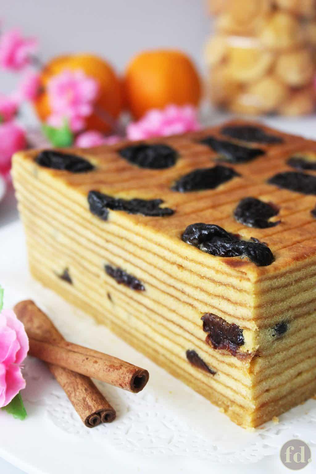 indonesian prune layer cake (prune lapis cake)