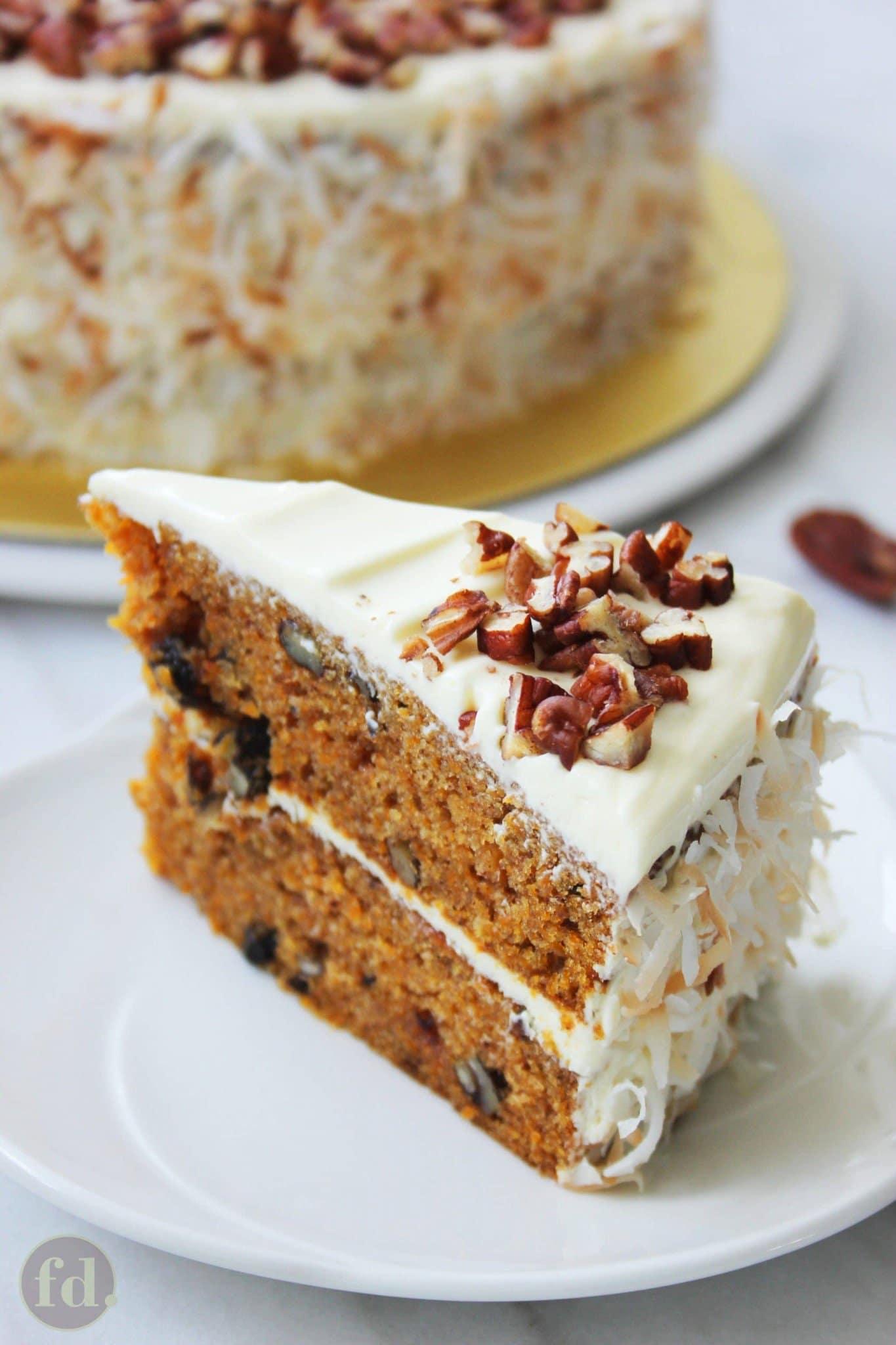 super moist and tender carrot cake