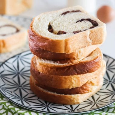 red bean milk bread