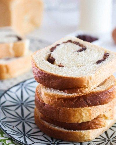 red bean milk bread
