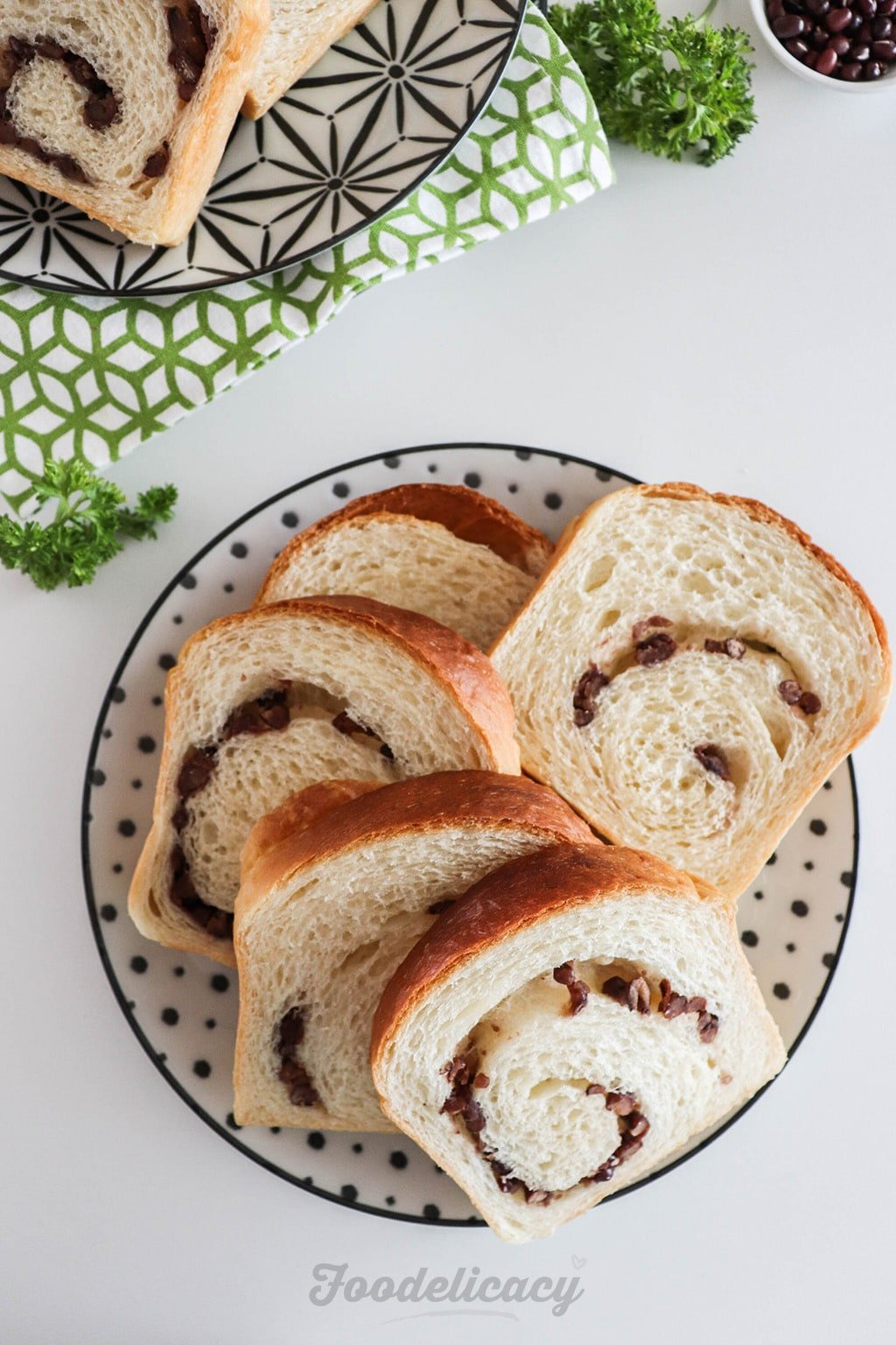 red bean milk loaf