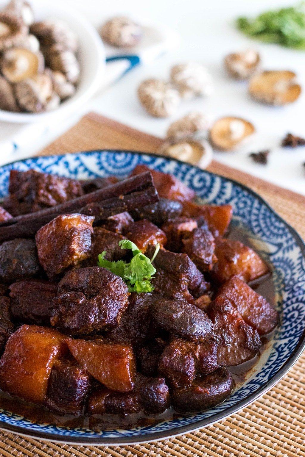 chinese dish of braised pork belly in soy sauce (tau yu bak)