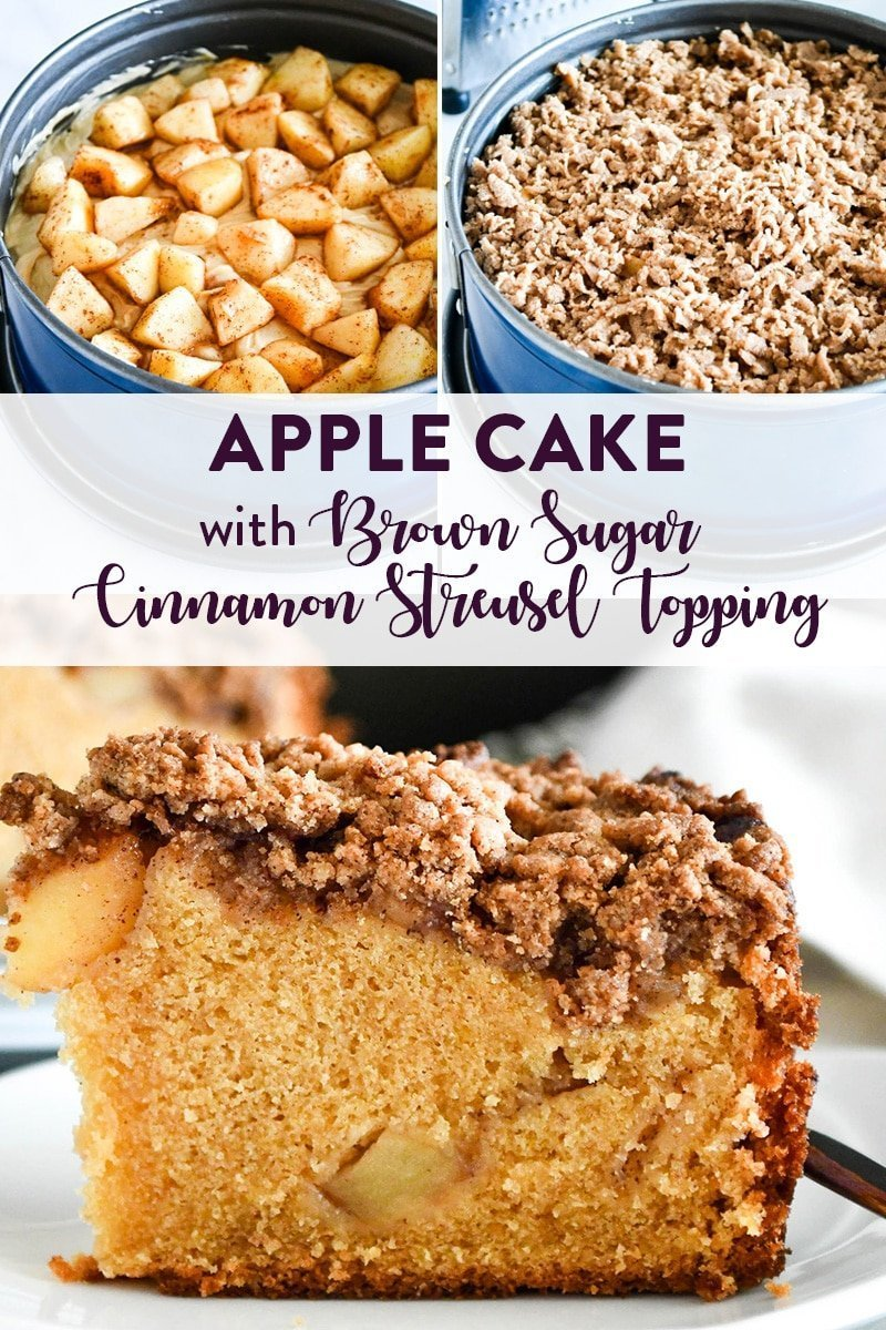 apple cake with brown sugar streusel topping