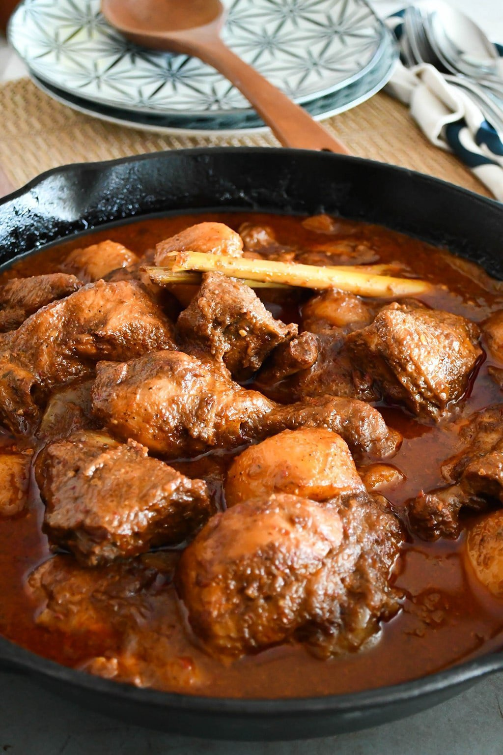 an eurasian traditional dish of devil's curry