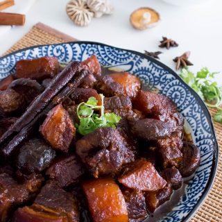 chinese dish of braised pork belly in soy sauce (tau yu bak)