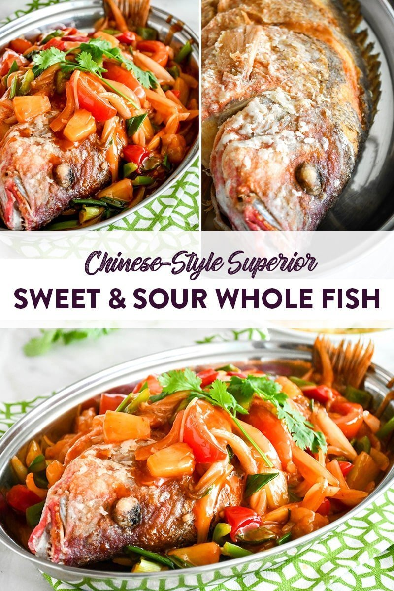Chinese Style Sweet and Sour Whole Fish Pinterest