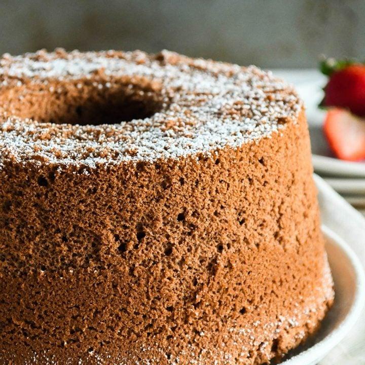 Cotton-Soft Chocolate Chiffon Cake