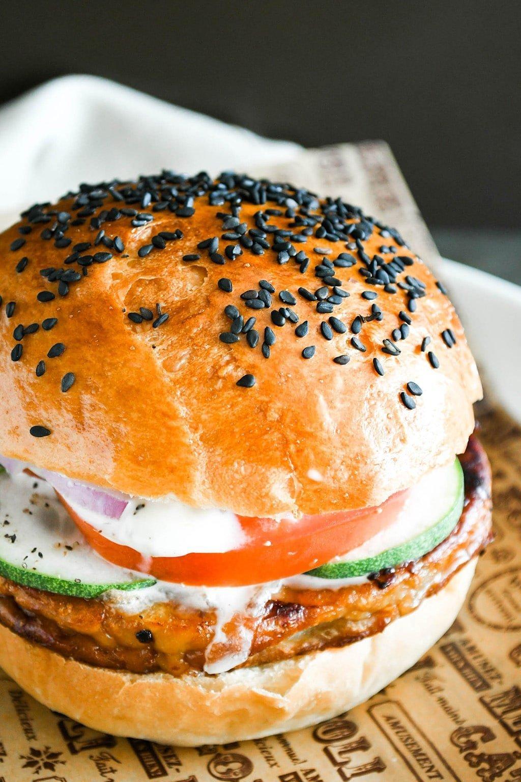 Classic light brioche burger buns
