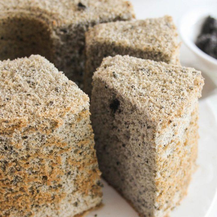 Japanese Black Sesame Chiffon Cake