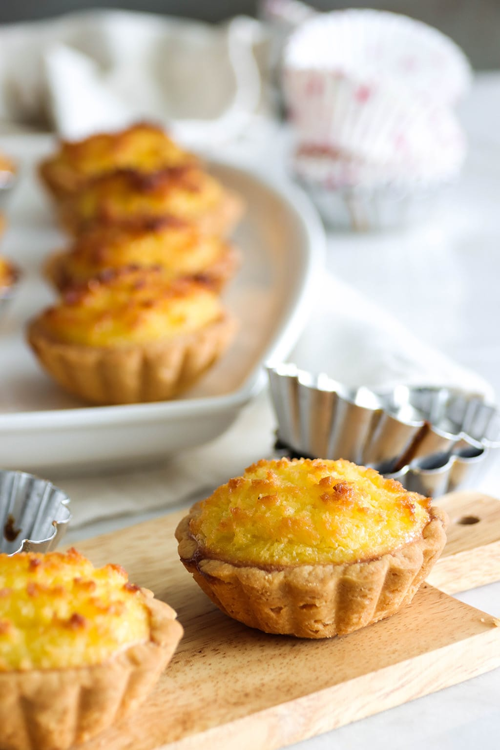 Delicious Coconut Tarts, Chinese Bakery-Style