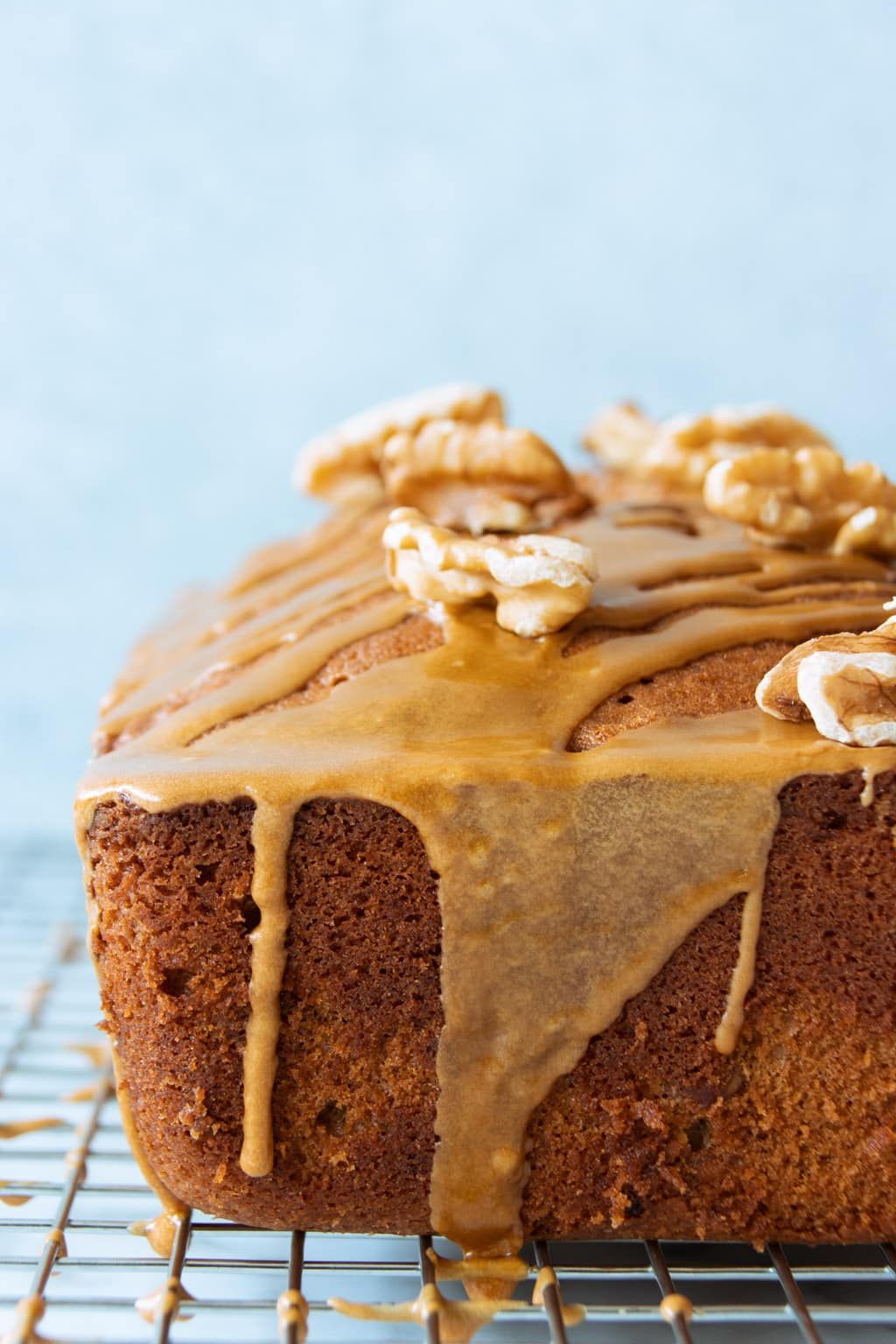 Extra Moist Coffee Walnut Cake with Coffee Glaze