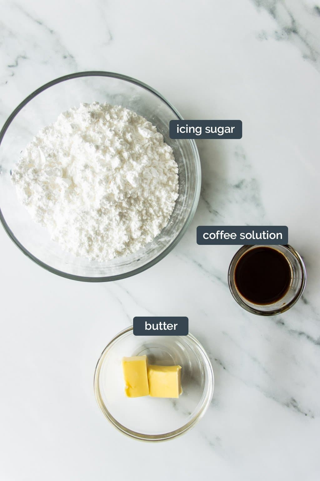 Coffee glaze ingredients