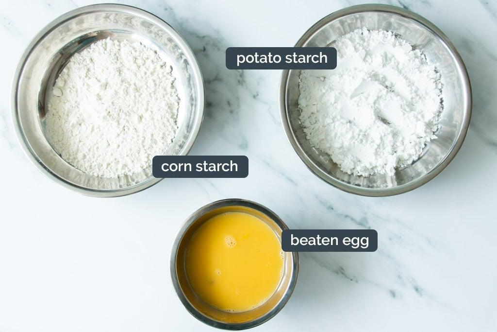 Dredging ingredients for crispy sweet and sour pork