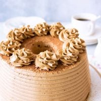 Coffee Chiffon Cake with Coffee Buttercream Frosting