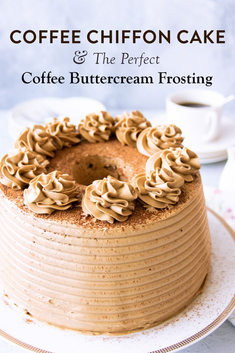 Coffee chiffon cake Pinterest