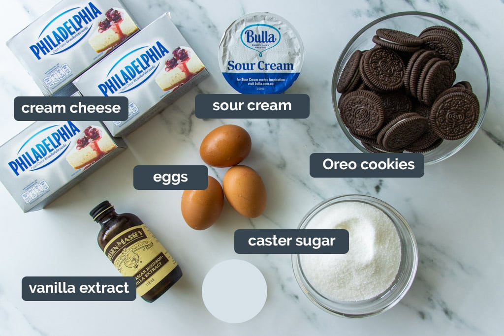 Oreo cheesecake ingredients