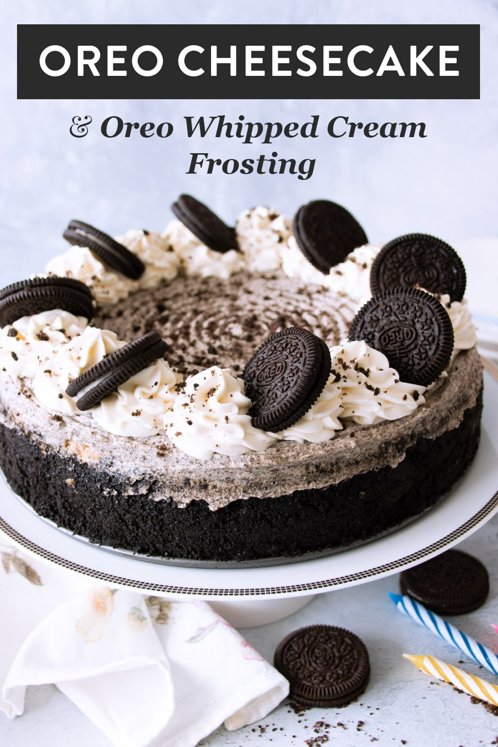 Oreo Cheesecake Featured Image for Pinterest