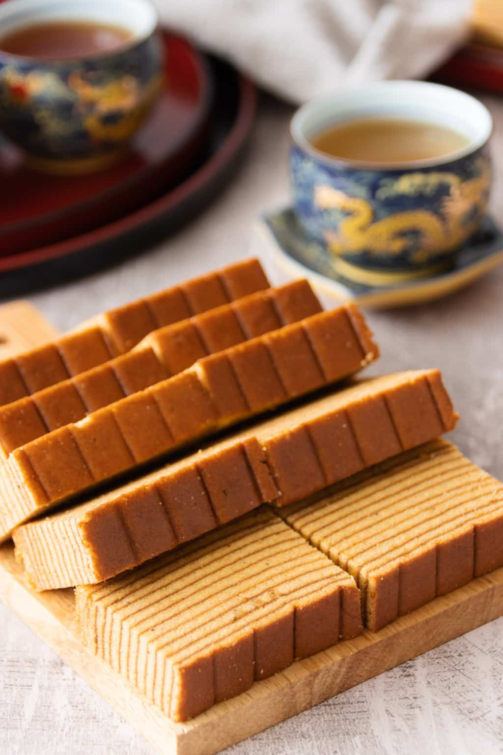 Indonesian layer cake slices, showing the layer pattern
