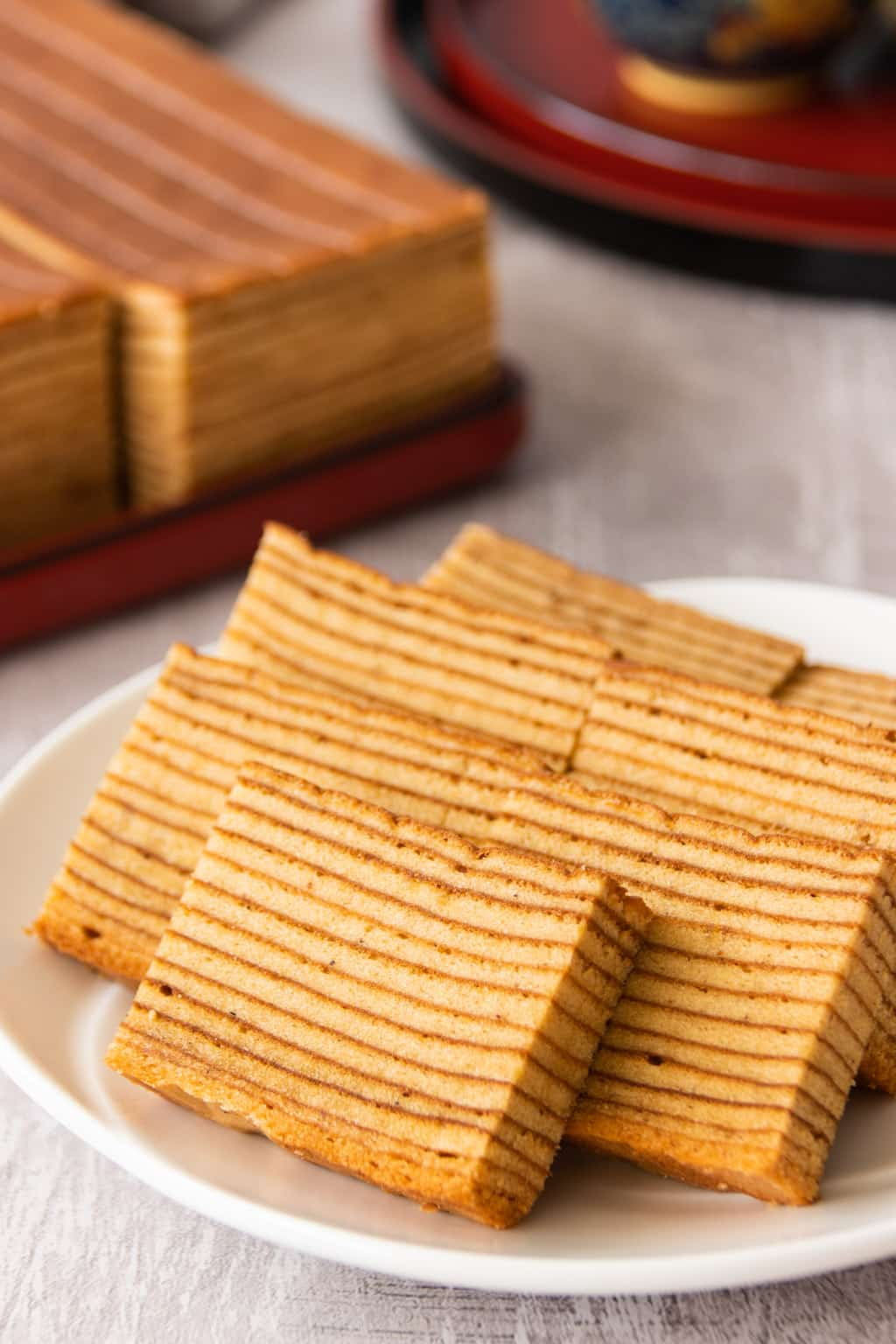Indonesian layer cake, traditionally served as thin slices