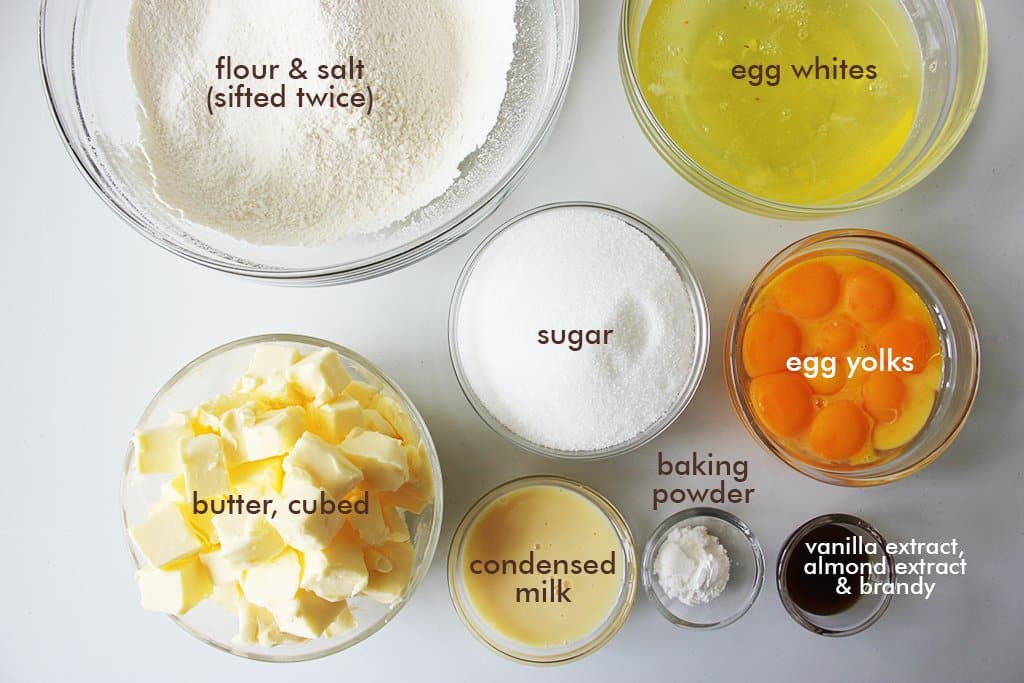 Ingredients for butter cake